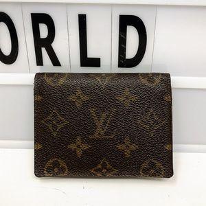 Louis Vuitton Monogram Cartes de vista card case